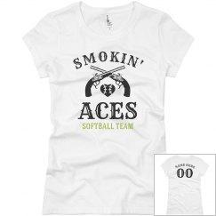 Smokin' Aces Funny Softball Team