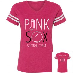 Custom Pink Sox Softball Team Shirt