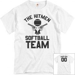 Hitmen Custom Funny Softball Team