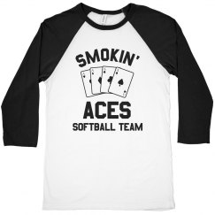 Custom Vintage Softball Team Raglan