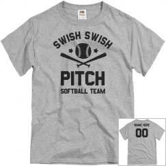 Custom Swish Swish Softball Pitch