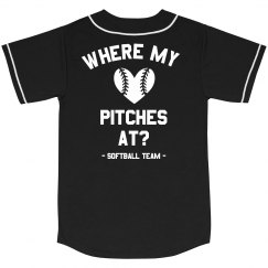 Where My Pitches At Softball Team