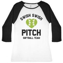 Softball Team Swish Swish Pitch