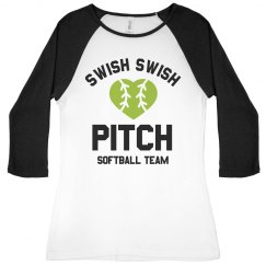 Softball Team Swish Swish Pitch