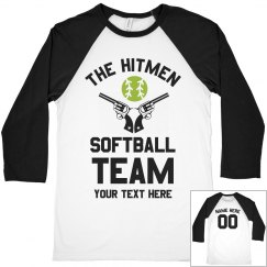 Vintage Custom Softball Team Raglan
