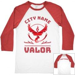 Vintage Metallic Custom Team Valor Raglan