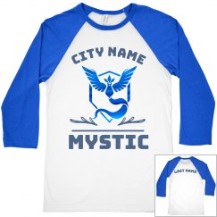 Vintage Metallic Custom Team Mystic Raglan