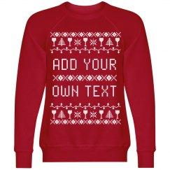 Custom Wine Themed Ugly Sweater