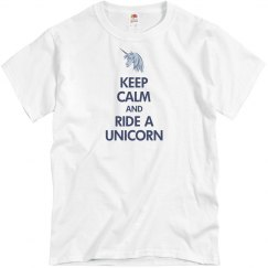 Keep Calm Unicorn Tee
