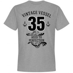 Nautical 35th birthday aged to perfection