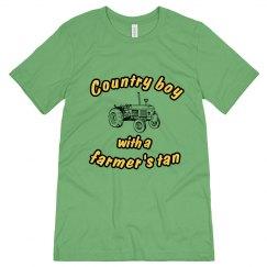 Green Country Boy T-shirt