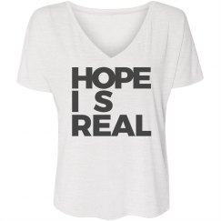 HOPE IS REAL V-NECK TEE