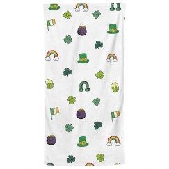 Lucky Print Bath Towel Charms