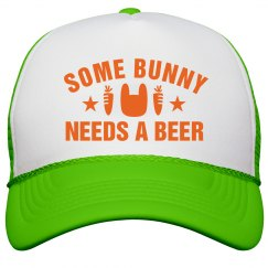 Some Bunny Needs Beer Easter Hat