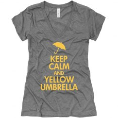 Keep Calm Yellow Umbrella
