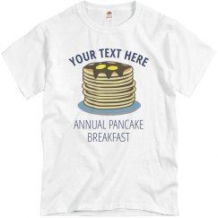 Custom Pancake Breakfast Tee