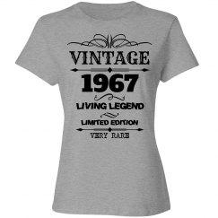 Vintage 1967 living legend birthday shirt