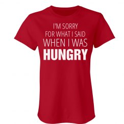 When I Was Hungry