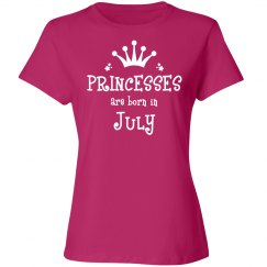 Princesses are born in July