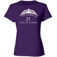 The queen is 21