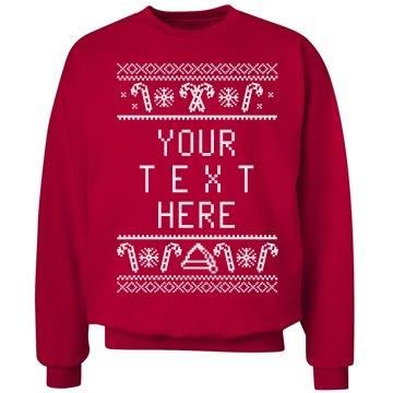 Candy Cane Custom Xmas Sweater
