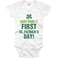 Personalized Baby's First St Patricks Day