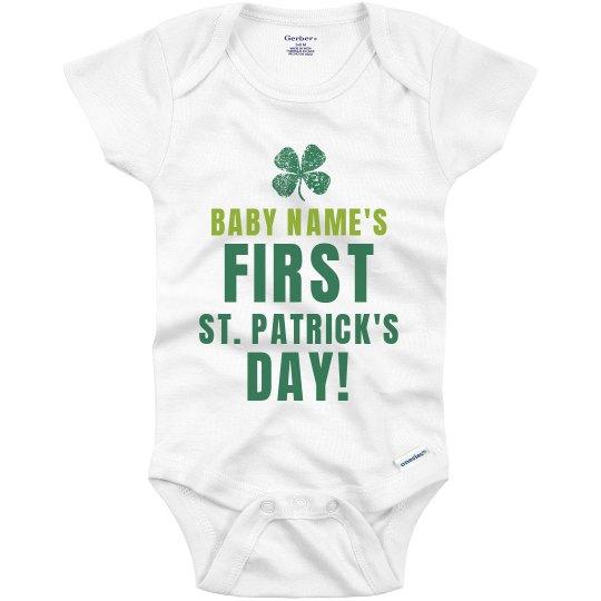9f171e3c Baby's First St Patricks Day Infant Onesie