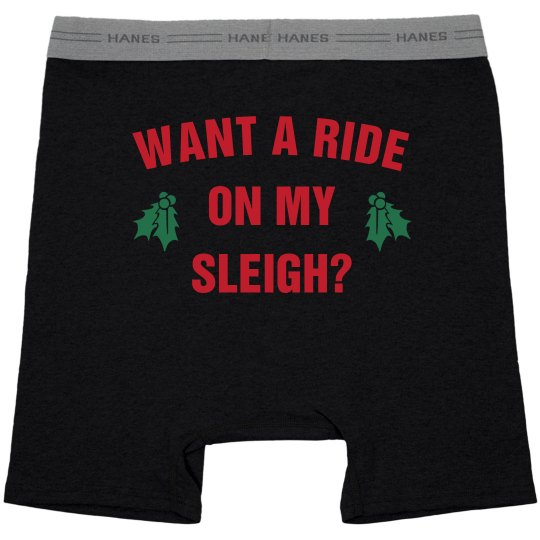 Mens Dinosaur Riding Santa Ugly Christmas Novelty Underwear Boxer Briefs