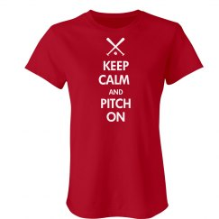 Keep Calm Softball Tee