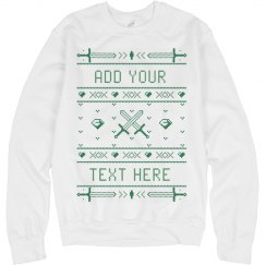 CUSTOM SWORD & DIAMOND UGLY SWEATER