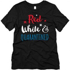 Red White & Quarantined Top