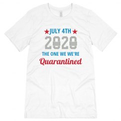 Custom Quarantined July 4th Top