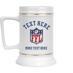 Custom Fantasy Football Team Draft Beer Stein