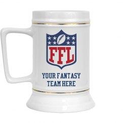 Custom Team Name Fantasy Football Draft Beer Mug