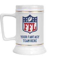 Custom Team Name Fantasy Football Draft Beer Mug