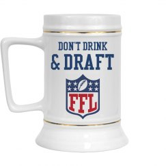 Don't Drink & Draft Funny Fantasy Football Humor