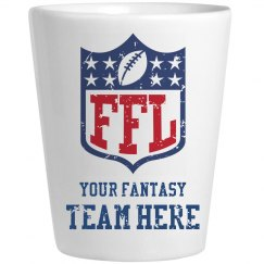 Custom Fantasy Football Team Name Shotglass