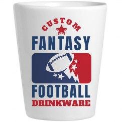 Custom Fantasy Football League Shot Glasses