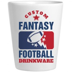 Custom Fantasy Football League Shot Glasses
