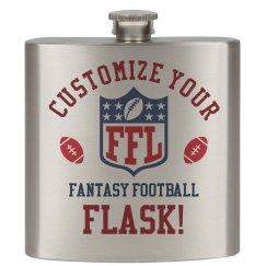 Custom Fantasy Football Team Gift Flask & Accessories