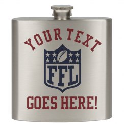 Fantasy Football Gift Flask Custom Team Name