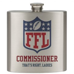 Funny Fantasy Football Commissioner Flask
