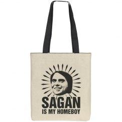 Carl Sagan Pro-Science Homeboy Tote