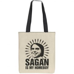 Carl Sagan Pro-Science Homeboy Tote