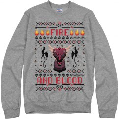 Fire And Blood Ugly Sweater