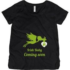 Irish Baby Coming Soon Maternity Top