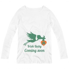 Irish Baby Coming Soon Maternity Top