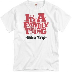 Family bicycle trip shirt