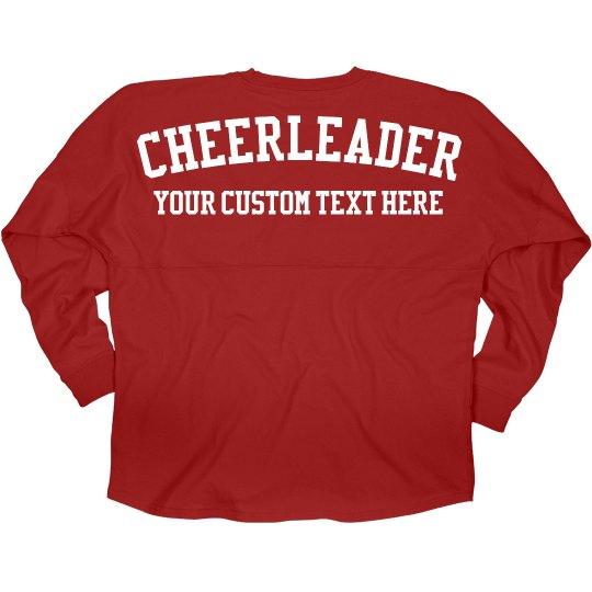 Cheerleader Custom Game Jersey