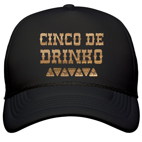 Cinco De Drinko Metallic Hat